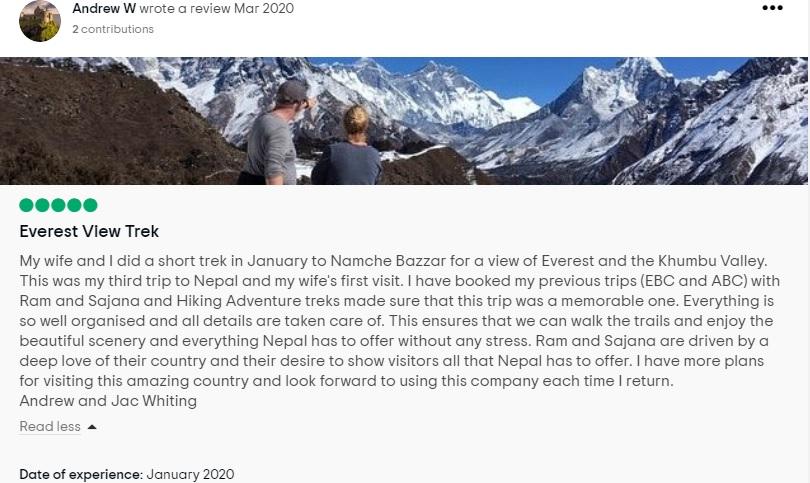 Everest View trek review