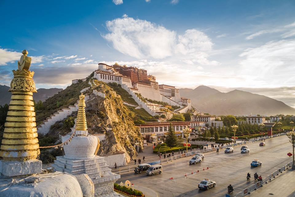 Group Joining Tibet Overland Tour, Potala place