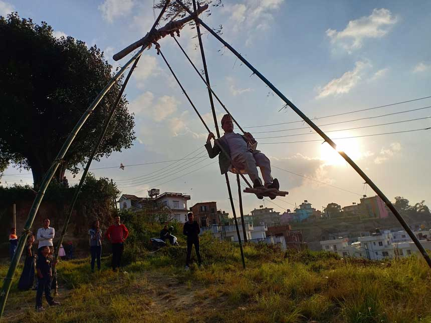 festivals in Nepal dashain swing