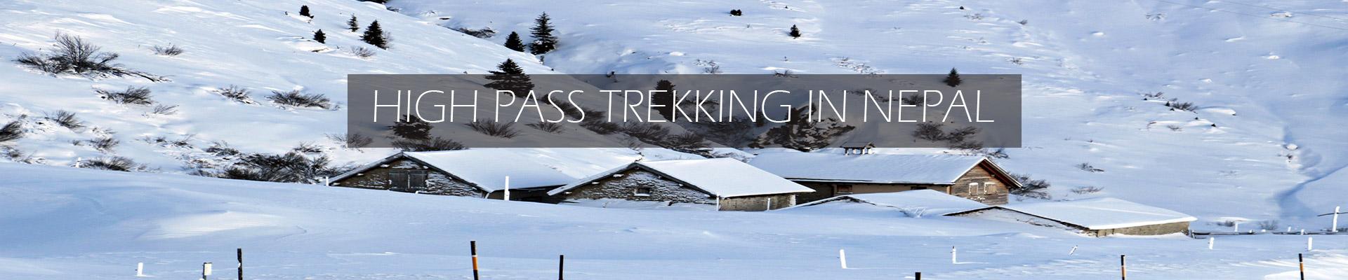 high pass trekking in Nepal