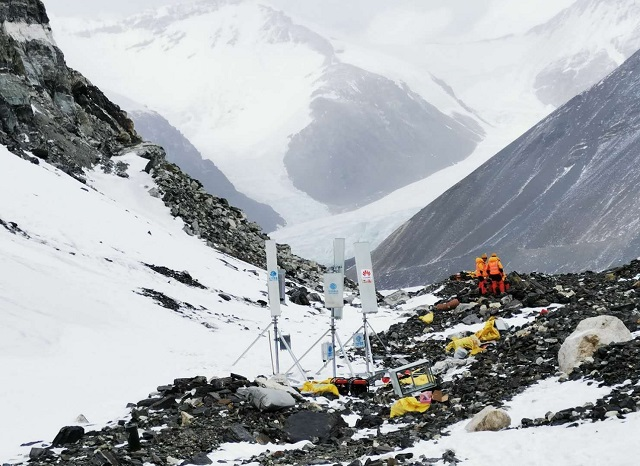 5g tower base camp in everest