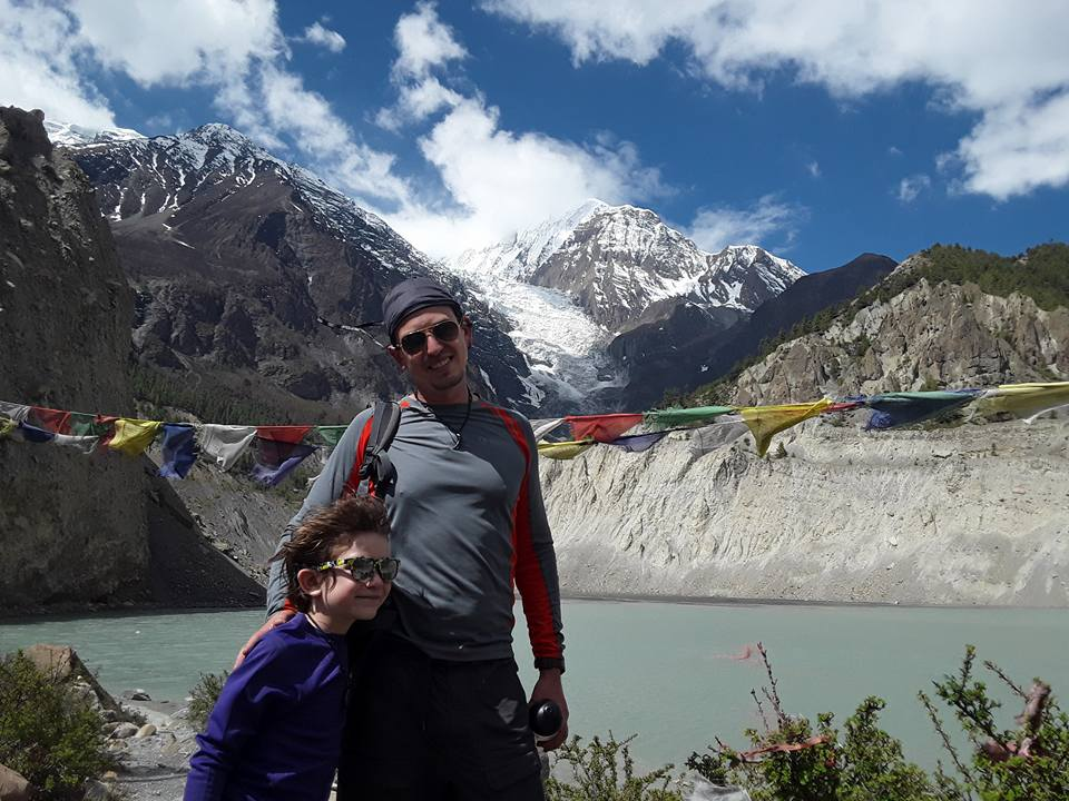 Nepal Trekking FAQs; Father and son trekking in Nepal